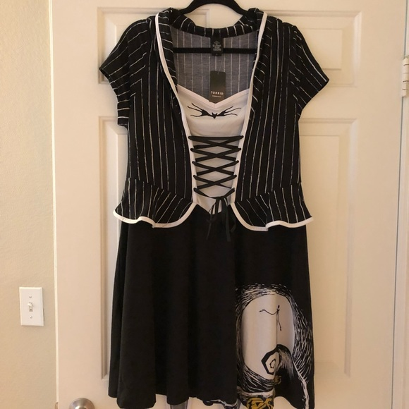 e02f9f2789b NWT DISNEY NIGHTMARE BEFORE CHRISTMAS corset dress